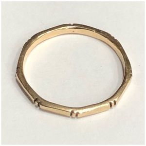 14KT Yellow Gold 8 Sided Stackable Ring